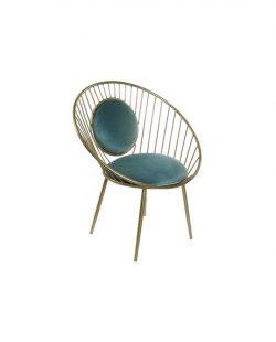 Chaise décorative laiton et velour- 17kg - Luxe