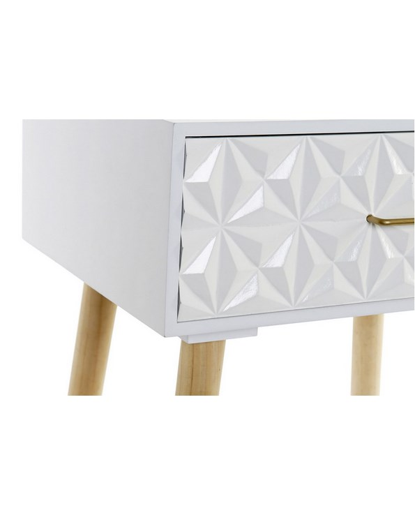 Chevet géométrique blanc suédois 40x30x51 (2)