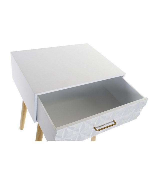 Chevet géométrique blanc suédois 40x30x51 (3)