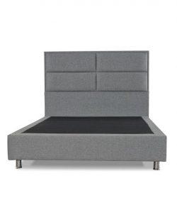 Ensemble lit, sommier & tête de lit Grey Square (5)