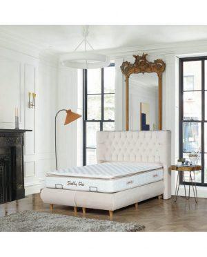 Ensemble lit, sommier & tête de lit Shabby Chic (7)