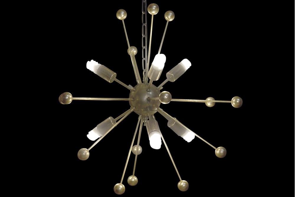Plafonnier satellite design doré (2)