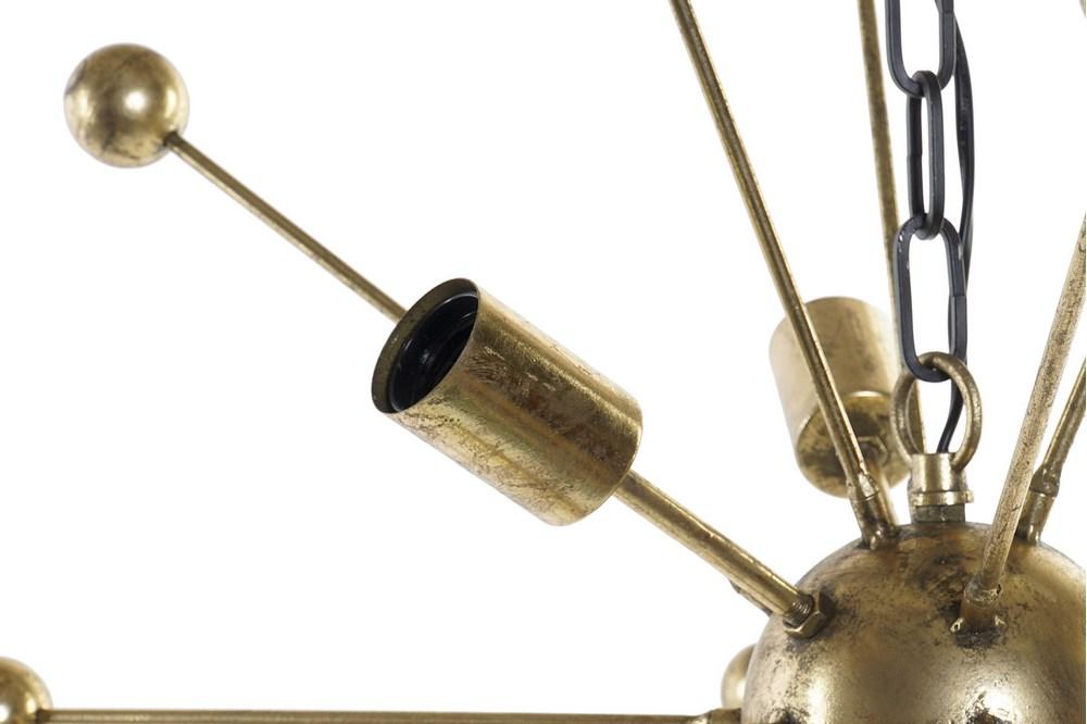 Plafonnier satellite design doré (3)