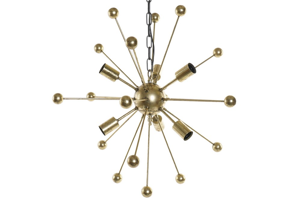 Plafonnier satellite design doré