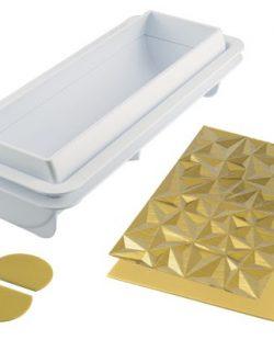 Kit bûches glacée diamant pour bûche de Noël Silikomart