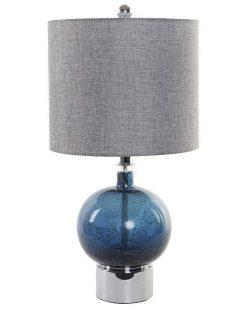 Lampe de table verre bleu