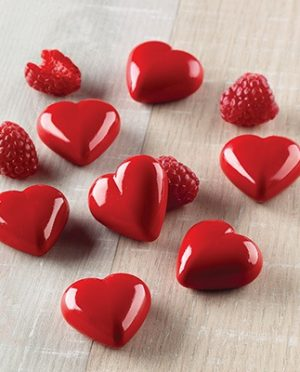 Moule à chocolat - 12 cavités forme de coeur
