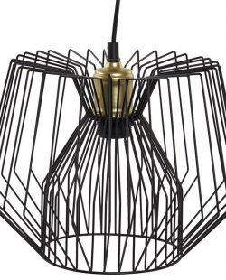 Plafonnier contemporain métal noir