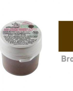 Colorant alimentaire hydrosoluble en poudre 25gr Marron - Silikomart (2)