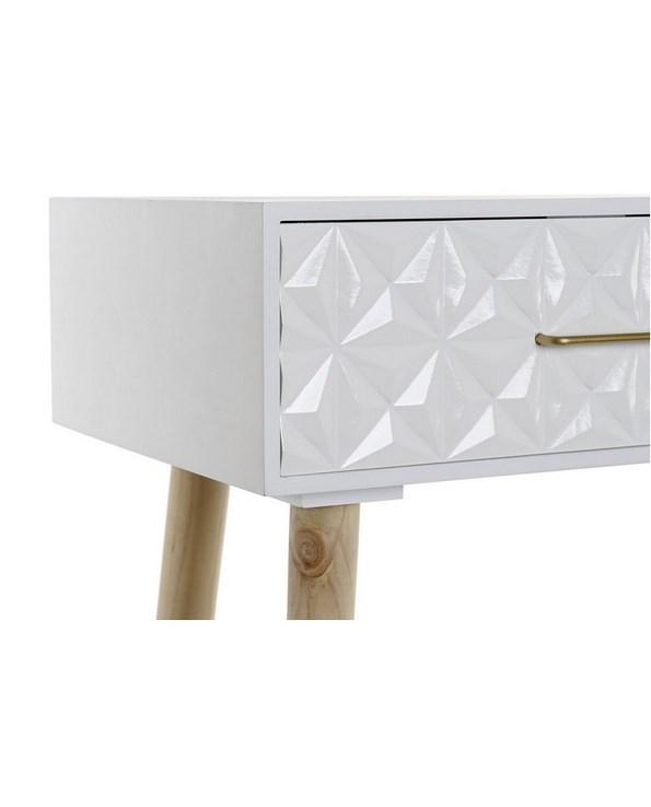 Console géométrique blanc suédois 80x30x74 (2)