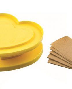 Emporte pièce pour biscuit en forme de cœur jaune