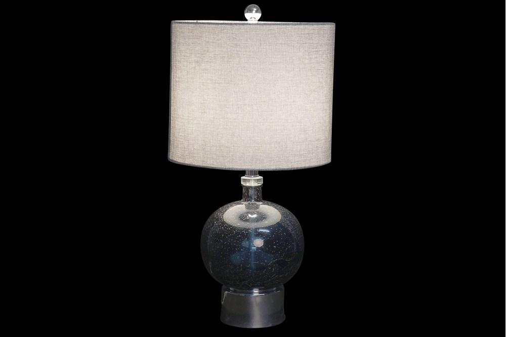 Lampe de table verre bleu (2)