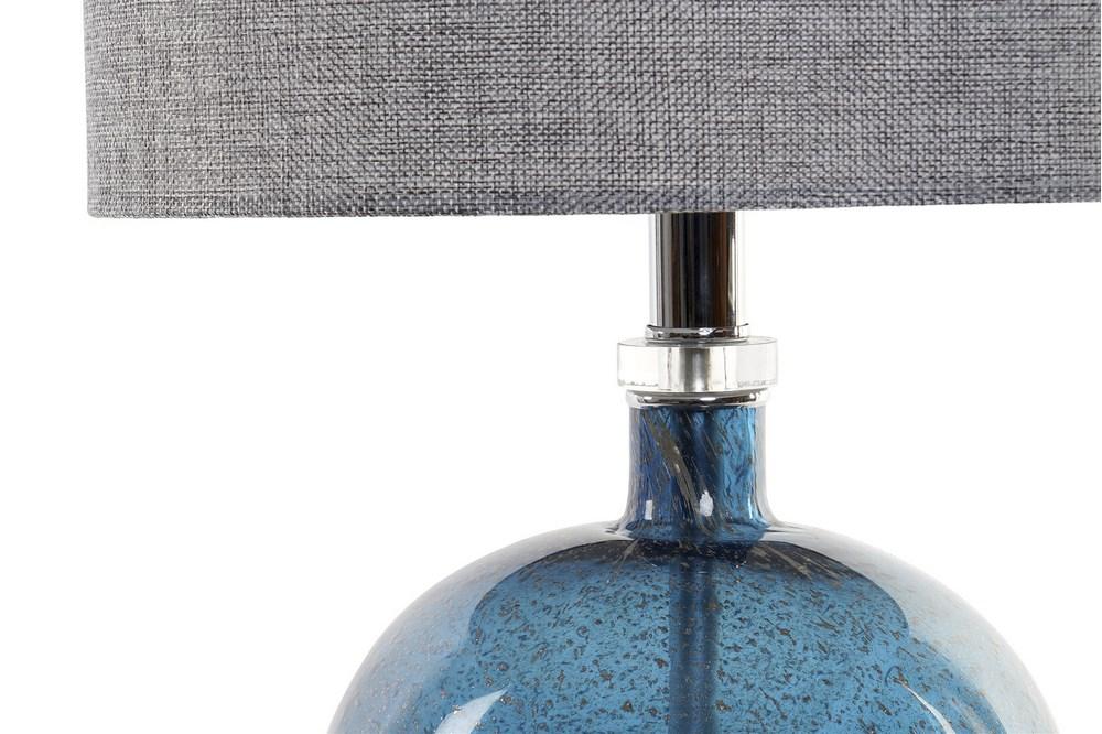 Lampe de table verre bleu (3)