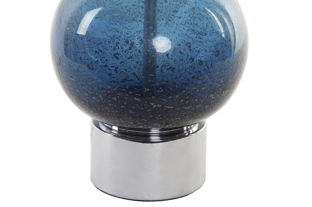 Lampe de table verre bleu (4)