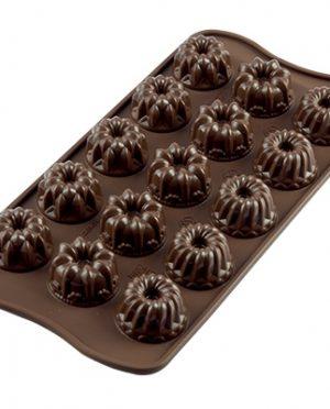 Moule à Chocolat - 15 pièces Fantasia 6,2 Gr en silicone Silikomart