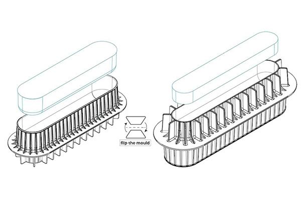 Moule insert buche silicone de la ligne 3design de SILIKOMART