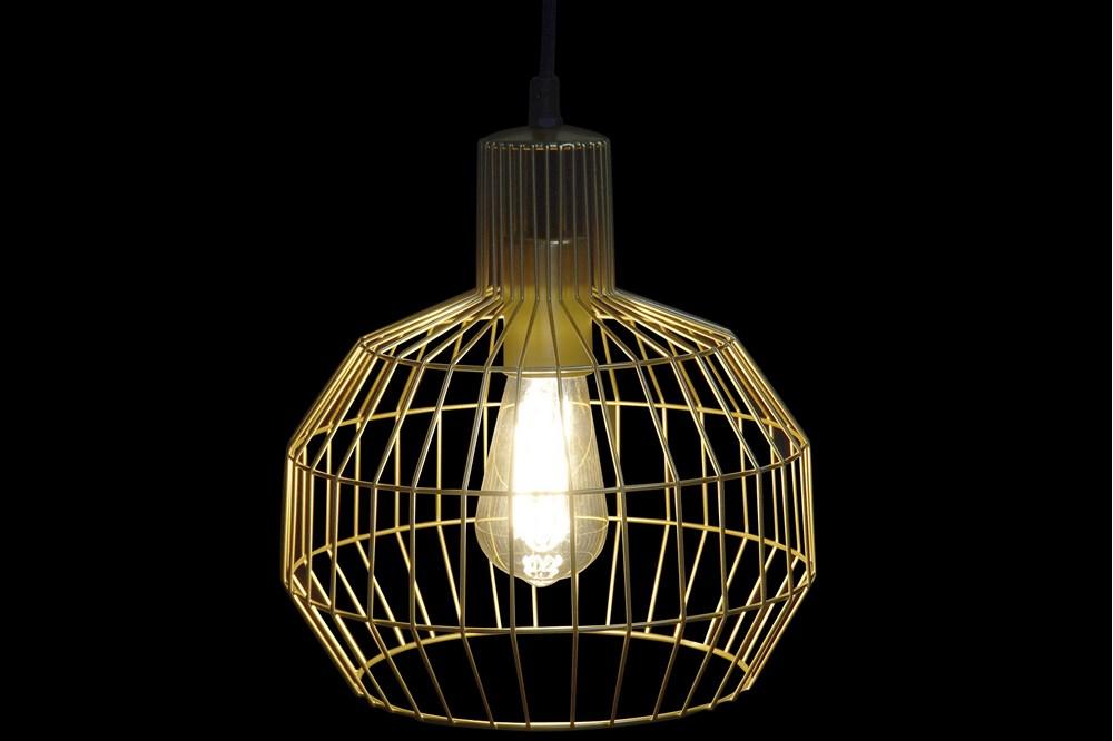 Plafonnier géométrique doré 24x24x28 (2)