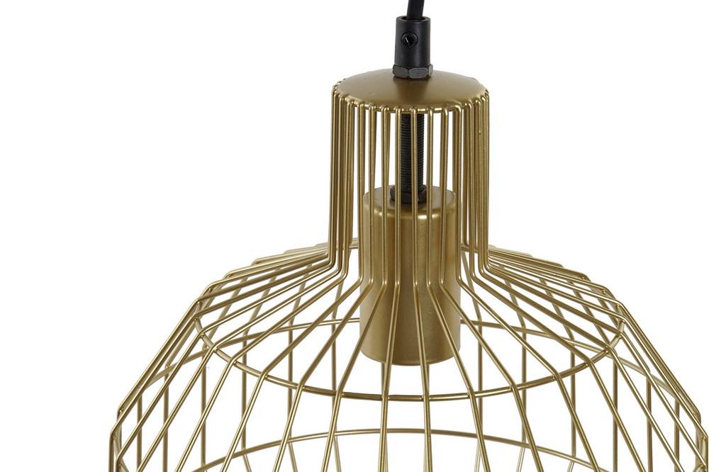 Plafonnier géométrique doré 24x24x28 (3)