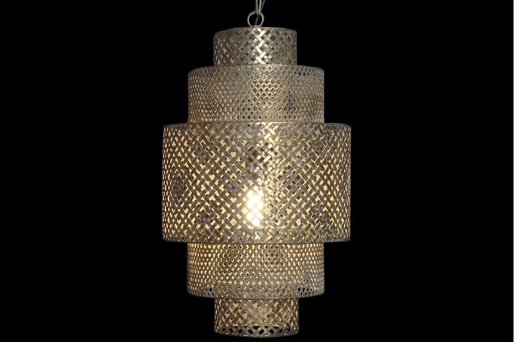 Plafonnier grandiose métal doré (2)