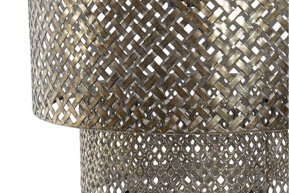 Plafonnier grandiose métal doré (4)
