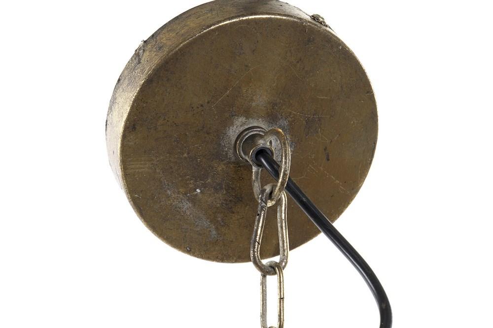 Plafonnier grandiose métal doré (5)
