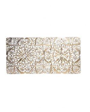 Tête de lit bois sculpture doré 160x80x3,5 (1)