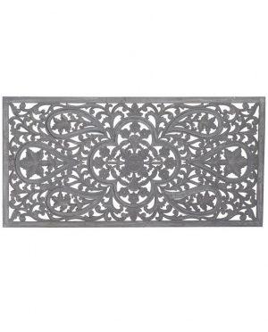 Tête de lit relief sculpté bois de mangue 160x5x80 (1)