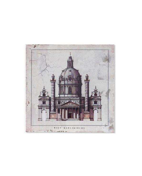 Tableau bois Eglise Modèle 1 40×3.5×40