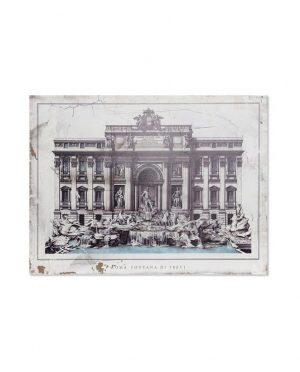 Tableau bois Rome 80x3,5x60
