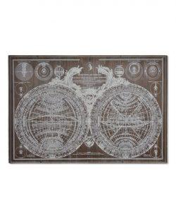 Tableau carte du monde 80x4,5x120