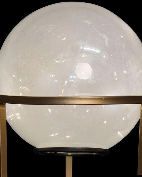 décoration lumineuse sphère sur socle grand modèle