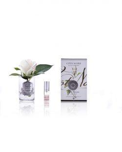 Roses Pink Blush parfumées - Contenant Vase Verre et Argent (2)