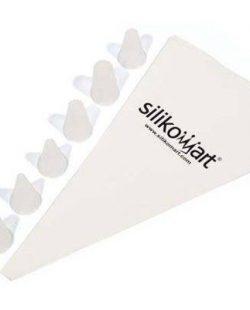 Poche à douille 34cm + 6 embouts étoiles Silikomart